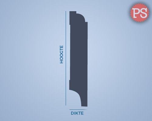 kraal plint mdf-v313 doorsnede
